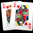 Stock Photo: King Queen of hearts