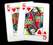 King Queen of hearts — Stock Photo