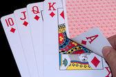 Royal Flush poker hand — Stock Photo