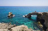 Rocky arch in the sea in Cyprus near Agia Napa — Stock Photo