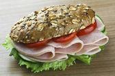 Sandwich on wood — Stock Photo