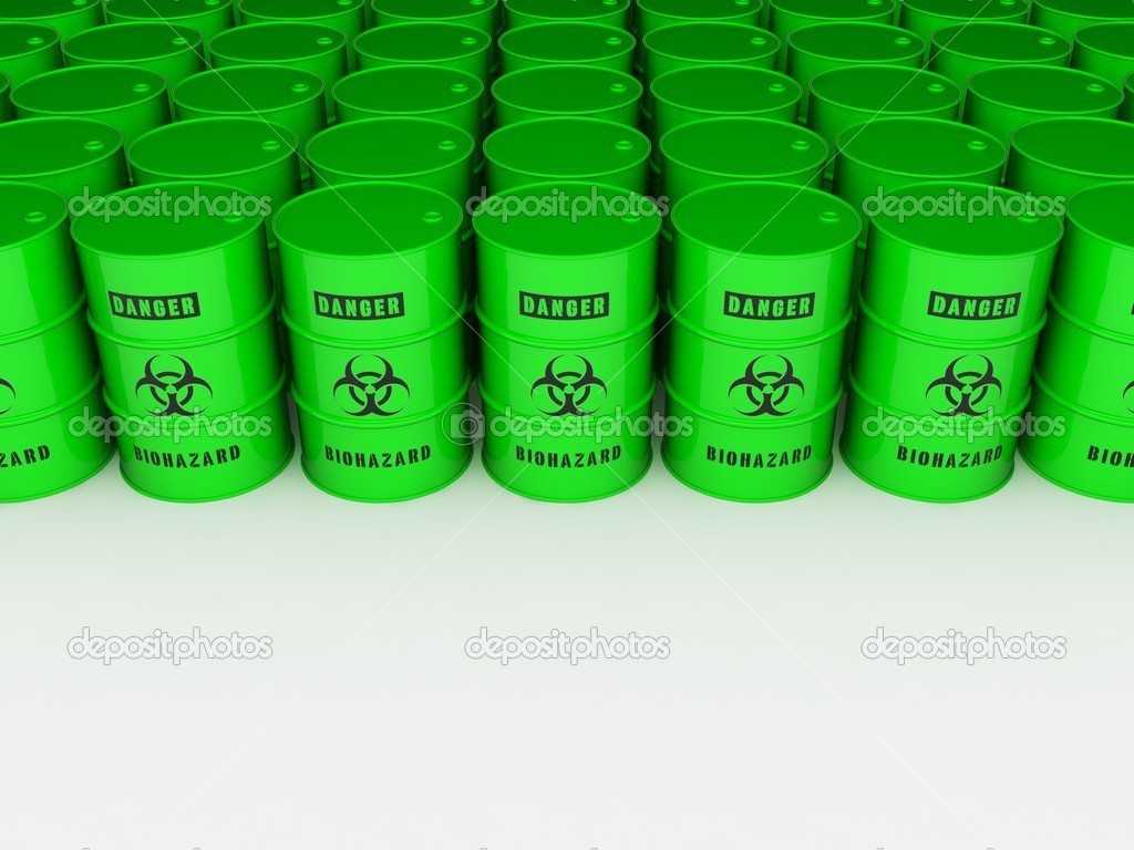 3d render  of bio hazard barrels  — Stock Photo #3645792