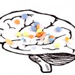 Healthy Brain Pills — Stock Photo #3901008