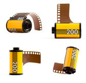 Canisters of 35mm film — Stock Photo