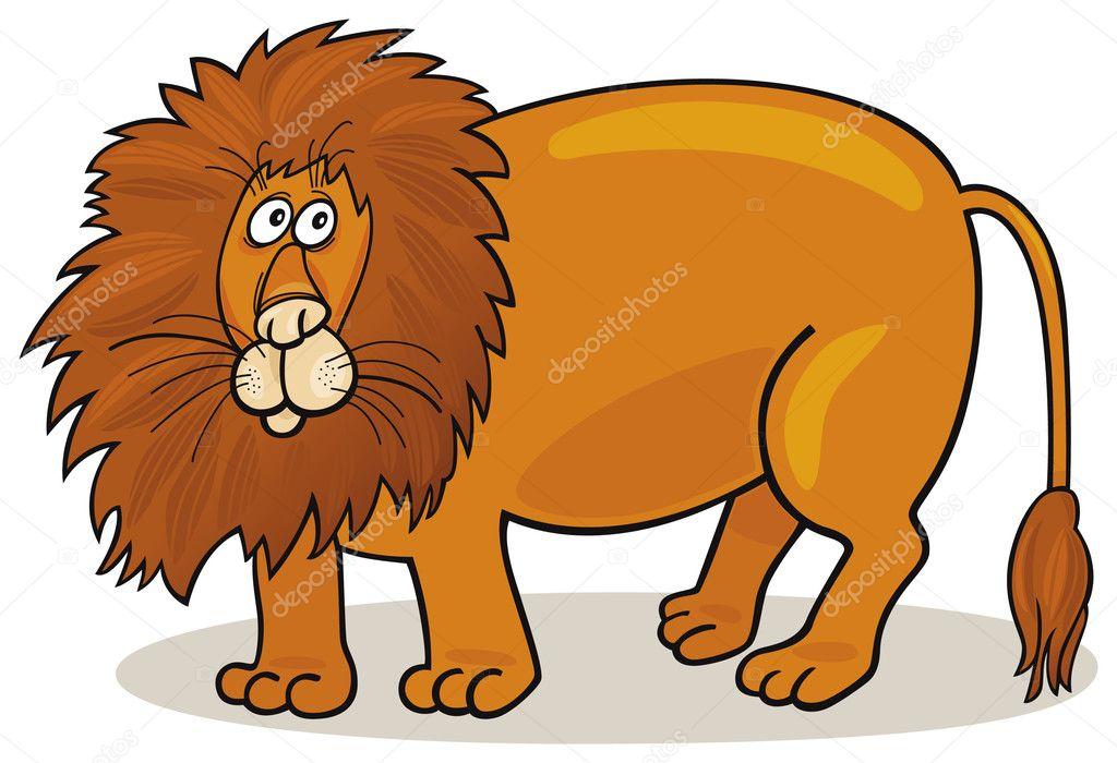 大的非洲狮矢量插画