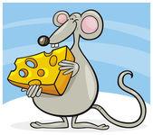 Myš se sýrem — Stock vektor