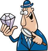 Man with diamond — Stock Vector