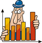 Man with chart — Stock Vector