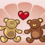 Teddy bears in love — Stock Vector #3659049
