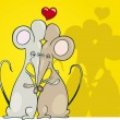Stock Vector: Mice in love