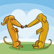 Royalty-Free Stock Vector Image: Dachshund Dogs in Love