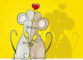 Ποντίκια στην αγάπη — Διανυσματικό Αρχείο
