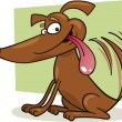 Dog waging his tail - Imagen vectorial