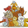 Royalty-Free Stock Vector Image: Cats and Dogs group