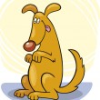 Royalty-Free Stock Vector Image: Dog\'s tricks: stand