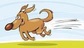 Running Dog — Stock Vector
