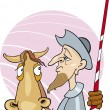 Don Quixote and his horse — Stock Vector #3687462