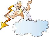 Greek God Zeus — Stock Vector