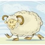 Funny ram — Stock Vector