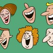 Set of funny faces — Stock Vector #3704556