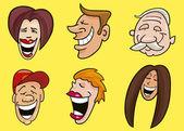 Uppsättning av roliga ansikten — Stockvektor