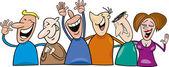 Group of happy — Stock Vector