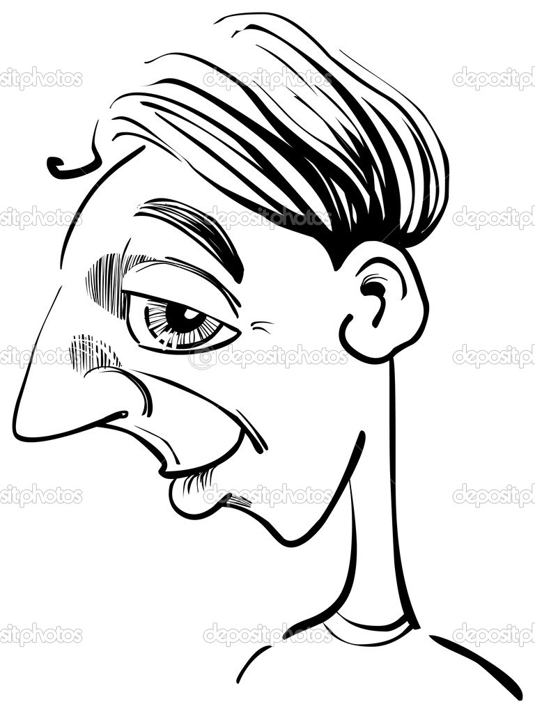 Caricature illustration of funny man — Stock Vector #3717081