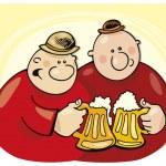 Guys drinking beer — Stock Vector #3722819