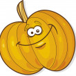 Stock Vector: Happy pumpkin
