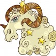 Zodiac aries sign — Vetorial Stock #3722955