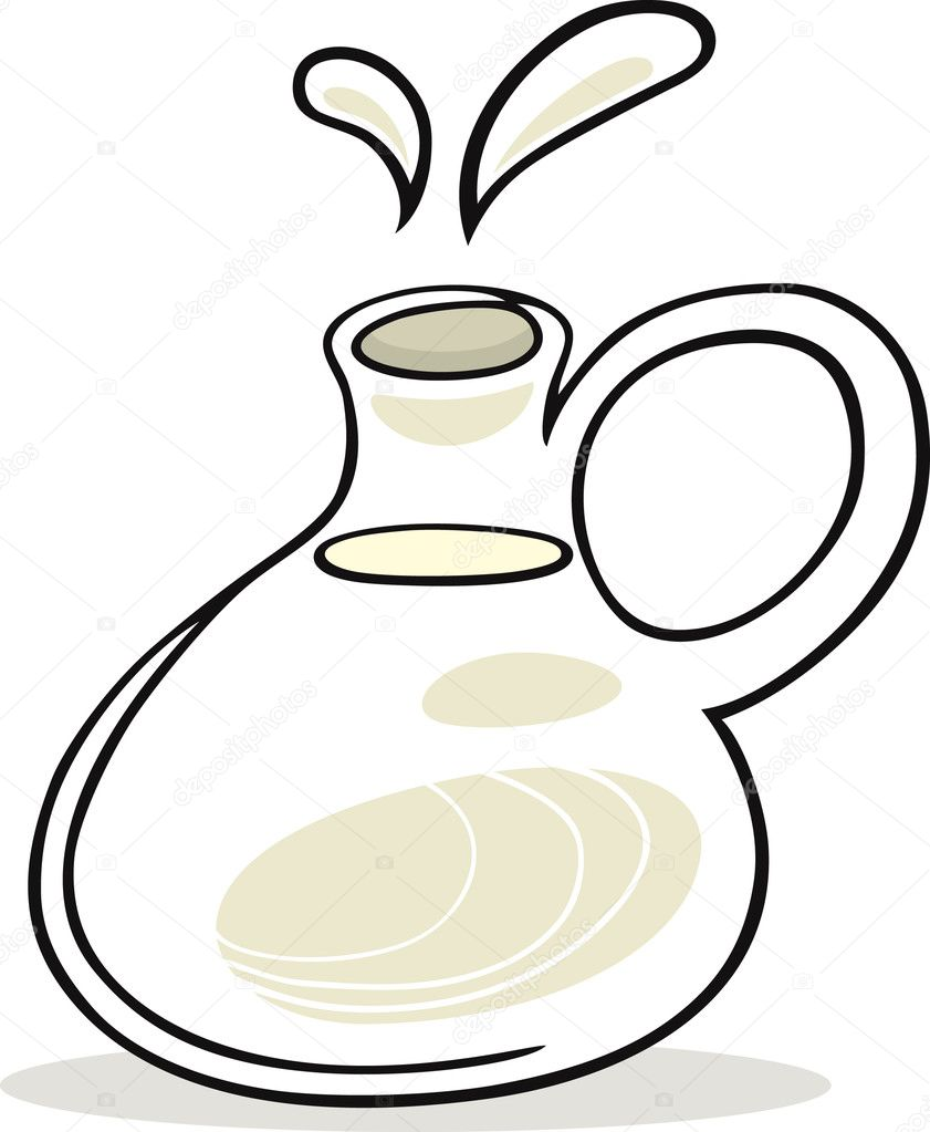 Vector illustration of pot with milk — Stock Vector #3722817