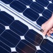 Installation of a photovoltaic system — Stock Photo