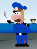 Sea captain — Stock Vector