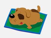 Sleeping dog — Stock Vector