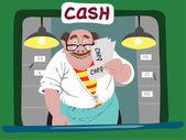Cashier — Stock Vector