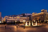 Kotzia Square and Athens Cityhall — Stock Photo