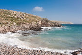 Coastal landscape at Cape Tenaro — Stock Photo
