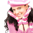 Girl wearing pink hat — Stock Photo