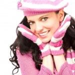 Girl wearing pink hat — Stock Photo #3653617