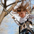 Little girl in a bungee — Stock Photo