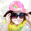 Little girl with sun glasses — Stock Photo