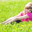 Young woman outdoors — Stock Photo #3653780
