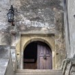 Stock Photo: Dracula's Castle Entrance