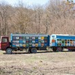 Truck with beehives — Stockfoto