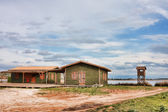 Green huts in Kalogria — Stock Photo