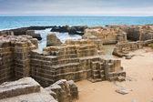 Ancient quarry at Torre Egnatia — Stock Photo