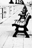 Benches in Bari — Stock Photo