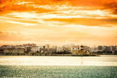 Sunset over Bari — Stock Photo