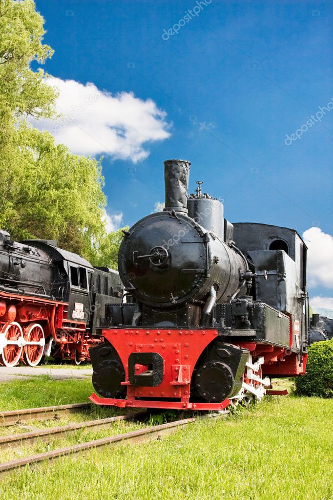 Beautiful steam train locomotive — Stock Photo #3655650