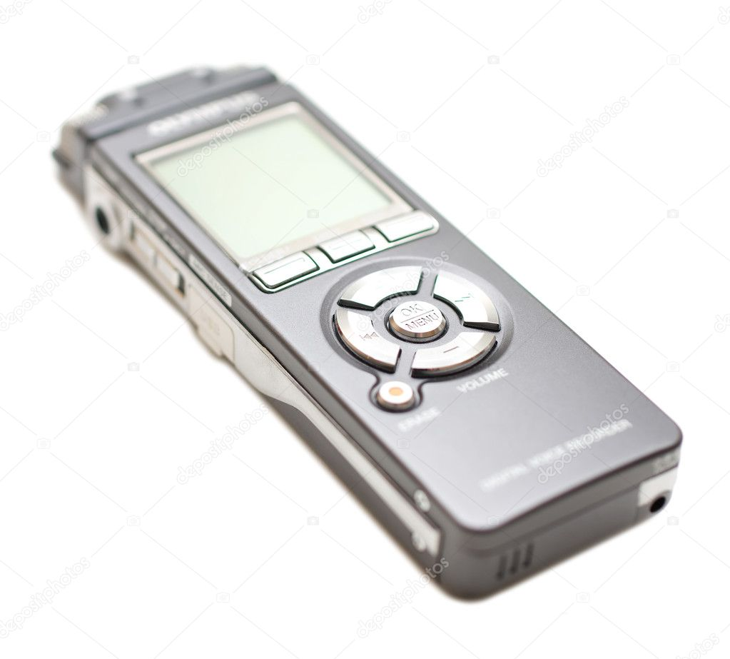 Voice recorder isolate on white — Stock Photo #3656260